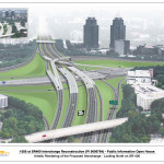 A rasterization of the new interstate expansions on I-285 and the GA-400 shows commuters and visitors of Atlanta can expect less traffic congestion and more improvements with the interchange.    Photo credit Georgia Department of Transportation