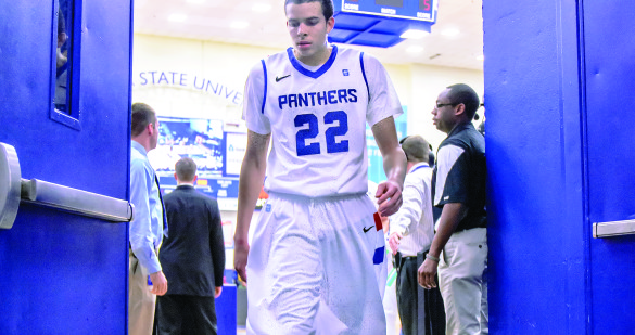 Junior guard R.J. Hunter announced he would be leaving the Panthers to sign for the NBA Draft March 30. | Photo by Patrick Duffy, The Signal Archives