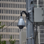 Security cameras are installed by the Atlanta Police Department on the corner of Piedmont Avenue and Auburn Avenue, along with many other areas.  Photos by Marc Valle | The Signal