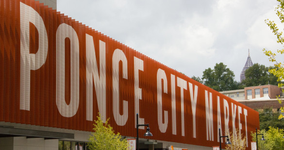 Ponce City Market, located in a local historic building, offers local retail shops, restaurants, residential units and more.   Photo by Nadia Deljou | The Signal