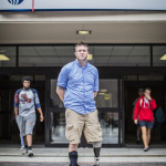Adam Hygema, a Veteran of the Navy with a prosthetic leg and a former Georgia State student, uses the VA as little as possible to avoid the hard time they give them veterans.  Photo by: Jason Luong
