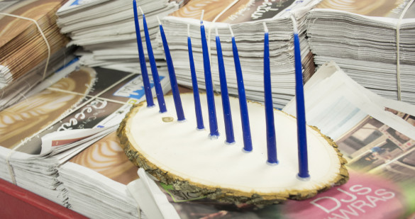 One of the oldest symbols of Judaism, the Menorah is lit during Hanukkah in December Photo by Jade Johnson | The Signal